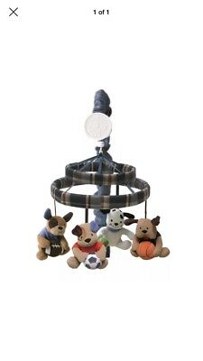 Lambs  Ivy Bow Wow Buddies Musical Crib Mobile - Puppy Dog Sports