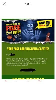 2 For 1 Alton Towers Or 2 For 1 Thorpe Park (online Booking Only) 241