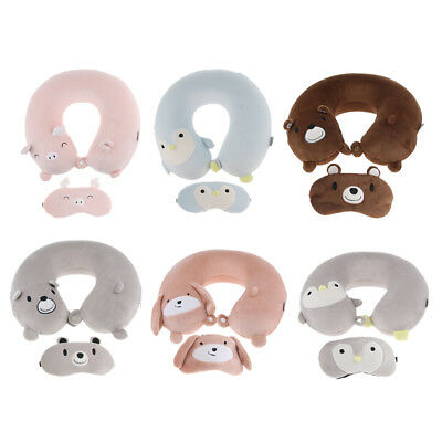 Memory Foam U-Shaped Travel Pillow Neck Support Head Rest Airplane Cushion