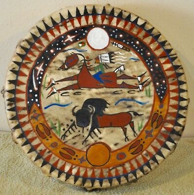 A Good Day / Native American Drum Painted by Lakota Artist Sonja Holy Eagle