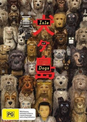 Isle Of Dogs Dvd, New & Sealed, 2018 Release, Region 4, Free Post