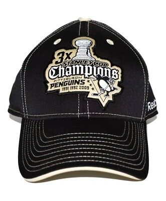 newest 6eef6 c143b ... italy reebok pittsburgh penguins ty09z nhl 3x stanley cup champions hockey  cap hat new 939af ceaf0