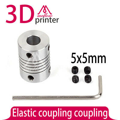 5X5mm CNC Motor Jaw Shaft Coupler Flexible Coupling 4pcs / lot For 3D Printer Ac