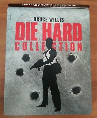 Die Hard Collection SteelBook (Blu-ray, 2018, 5-Disc) Bruce Willis- No Digital