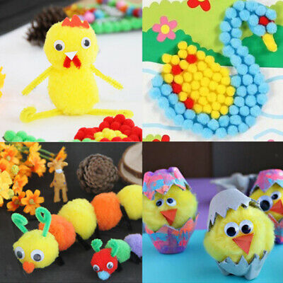 100 Pcs Craft Pom Poms Accessories Fluffy Ball Craft Decoration Yellow