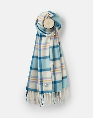 Joules 124977 Scarf ONE in PINK AND BLUE CHECK in One Size