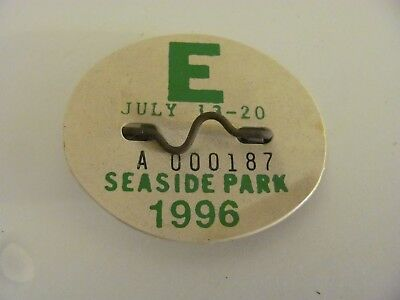 Vintage Seaside Park Beach Badge 1996 Weekly Expired July 20 (A000187)