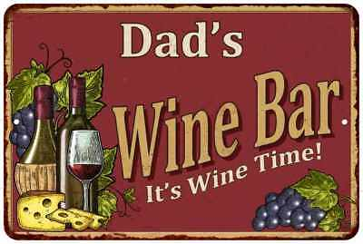 Dad's Red Wine Bar Personalized Metal Wall Sign Home Decor 112180054407