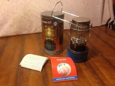 Vintage Camping Gaz International Portable Gas Lantern Lampe Gt Made