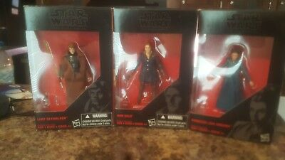 Lot Of Hard To Find Star Wars Black Series Figures six inch