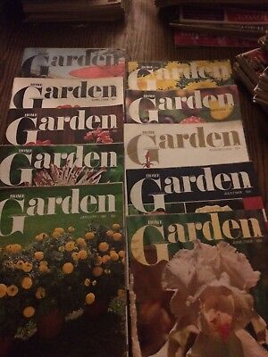 vintage home garden and flower grower magazines January-October 1968