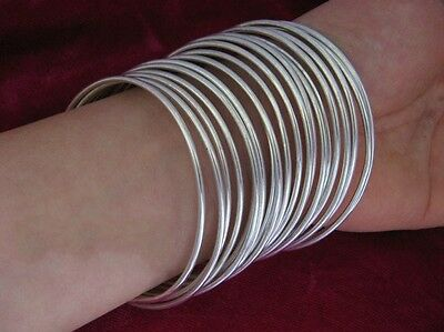 Vintage Style Handmade Miao Silver Smooth surface bracelet 10pcs