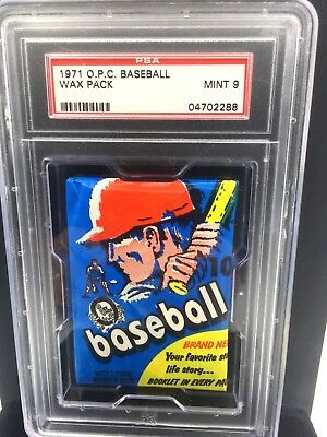1971 Topps OPC Baseball Unopened Wax Pack PSA 9 Mint Opeechee  Pop 19 All Series