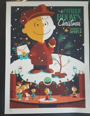 Charlie Brown Christmas Tom Whalen 2011 Signed Numbered 132/450 Charles Schulz