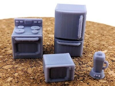 28MM SCALE KITCHEN items, wargaming, scifi, household, urban scatter terrain