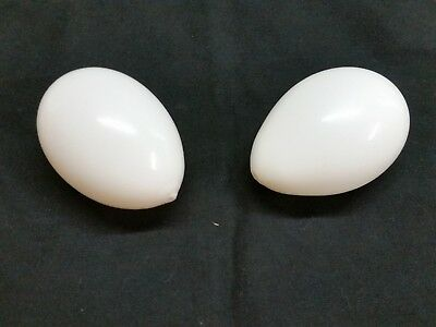 Vintage White Blown Glass Sewing Darner Egg Lot of 2