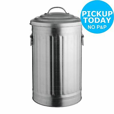 Habitat Alto 32L Galvanised Steel Kitchen Bin.
