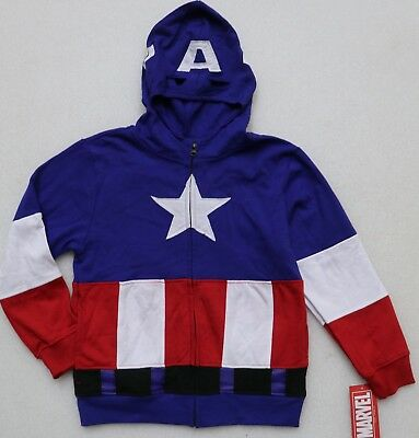 dae8cd62 MARVEL CAPTAIN AMERICA Full-Zip Masked Hoodie, Sweatshirt Boys ...