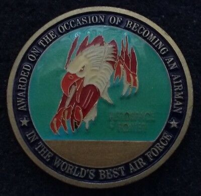 AUTHENTIC Becoming An Airman USAF Air Force BMT Basic Training Challenge Coin v7