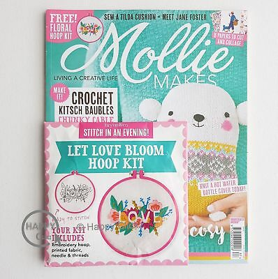 Mollie MAKES Magazine - 2017 Autumn Issue - Free gift of  Hoop Kit