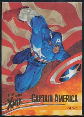 1996 X-Men Ultra Wolverine Trading Card #39 Captain America