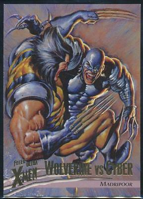 1996 X-Men Ultra Wolverine Trading Card #50 Wolverine vs. Cyber