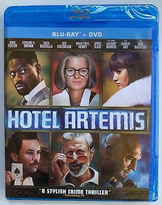 New Sealed Hotel Artemis Blu Ray Dvd 2 Disc Set Free World Wide Shipping Action
