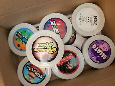Cali Tin Labels / Press In Tin / Plastic Lid & Stickers (Best Quality)