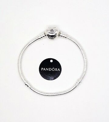 New Pandora S925 Sterling Silver Charm Bracelet with Heart Clasp 590719