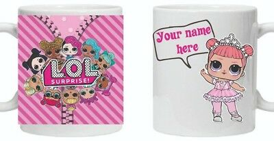 Lol surprise doll mug personalised with any name gift present christmas 355/6