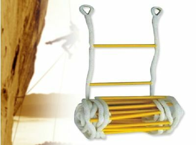 10m High Strength Nylon Polypropylene Escape Rope Ladder Folding Step Ladders