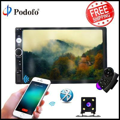 "Car Stereo Mp5 Player 7"" Inch Touch Screen Bluetooth Radio 2din HD Rear Camera"