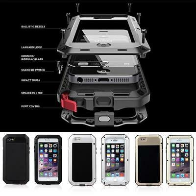 Heavy Duty Armor Shockproof Tough Hybrid Metal Anti Case For iPhone 6