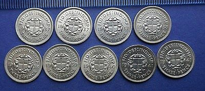 George VI Silver 3d - 1937 to1944 - EF BU Proof - Choose your date or grade