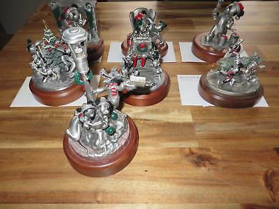 7 Chilmark / Hudson Creek Disney Fine Pewter Figurines Zinnfiguren – Christmas