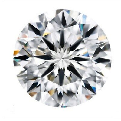 3.5cts Natural White Diamond H Color 10mm Round Shape VVS2 Clarity