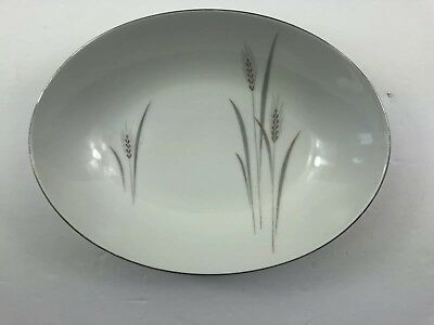 Platinum Wheat by Fine China Japan Oval Serving Vegetable Bowl