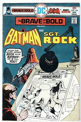 Brave and the Bold #124 Featuring Batman & Sgt. Rock, Fine Condition