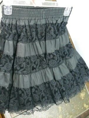 Vintage Square Up Fashions Black Lace Womens Petite Square Dancing Petticoat