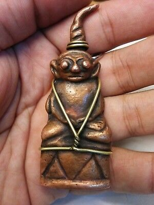 Phra Ngang Copper Right Head Love Sex Thai Amulet Charm Occult Extremely Rare