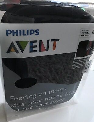 Philips Avent Feeding On-the-Go Thermabag Black Bottle Bag BNIB Baby Accessory