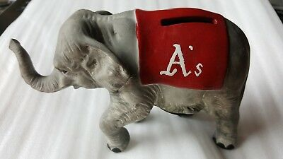 Vintage Oakland A's Elephant Bank Ceramic