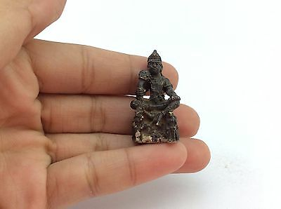 RARE Yommabal- Sit  THAI BUDDHA AMULET LUCKY WEALTH RICH Sex Love Charm BE.2500