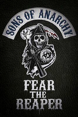 """SONS OF ANARCHY - TV SHOW POSTER (FEAR THE REAPER) (SIZE: 24"""" x 36"""")"""