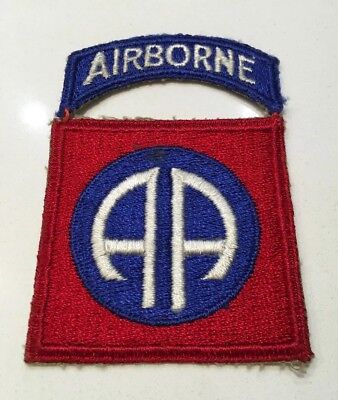 Original WWII U.S. Army 82nd Airborne Infantry Division & Tab Patch
