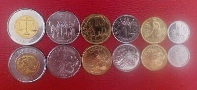 Ethiopia Coins set of 6 pcs. (1, 5, 10 ,25 ,50 Cents & 1 Birr)