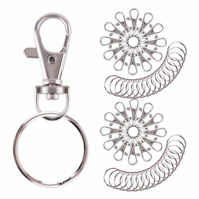 Key Chain Keychain Keyring Ring With Clasp Stainless 55 Pcs Set Bulk Pack New
