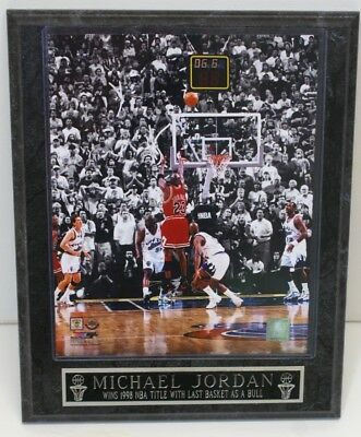 7ca58bf8c0a FRAMED 98 FINALS MICHAEL JORDAN LAST Shot 1998 NBA Title CHICAGO BULL Photo