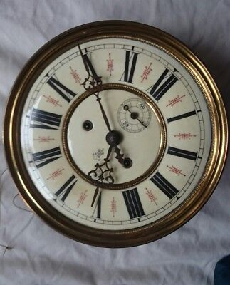 Gustav Becker Twin Weight Vienna Clock Dial,  Movement Etc For Restoration