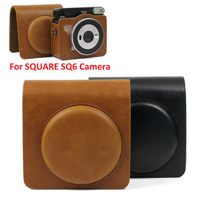 For Fujifilm Instax SQUARE SQ6 Instant Film Camera Bag Cover Case PU Leather